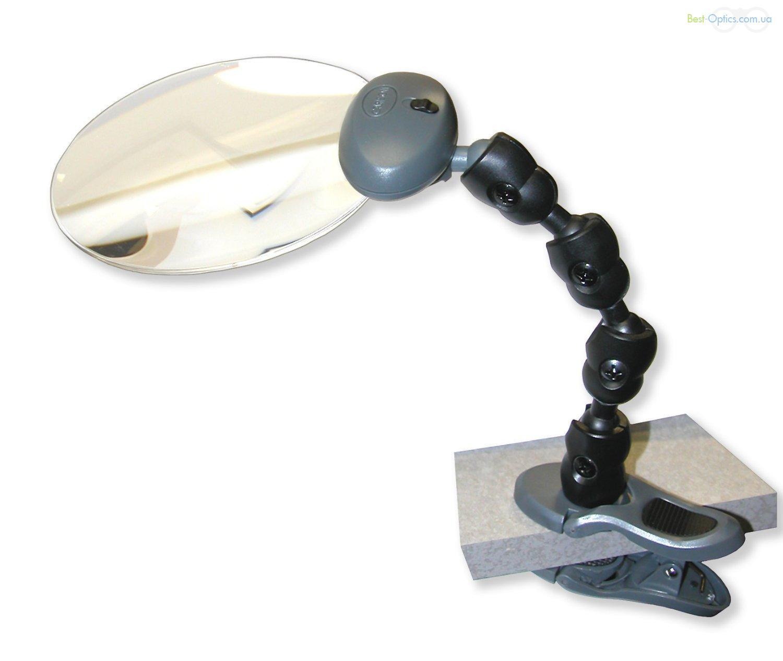 Увеличительное стекло Carson LED Attach-A-Mag 2х