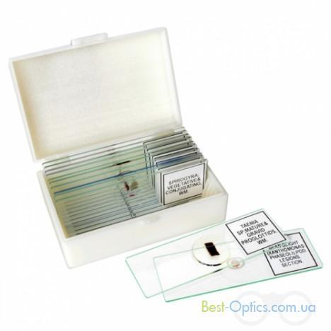 Набор готовых микропрепаратов Bresser High Quality 10 шт
