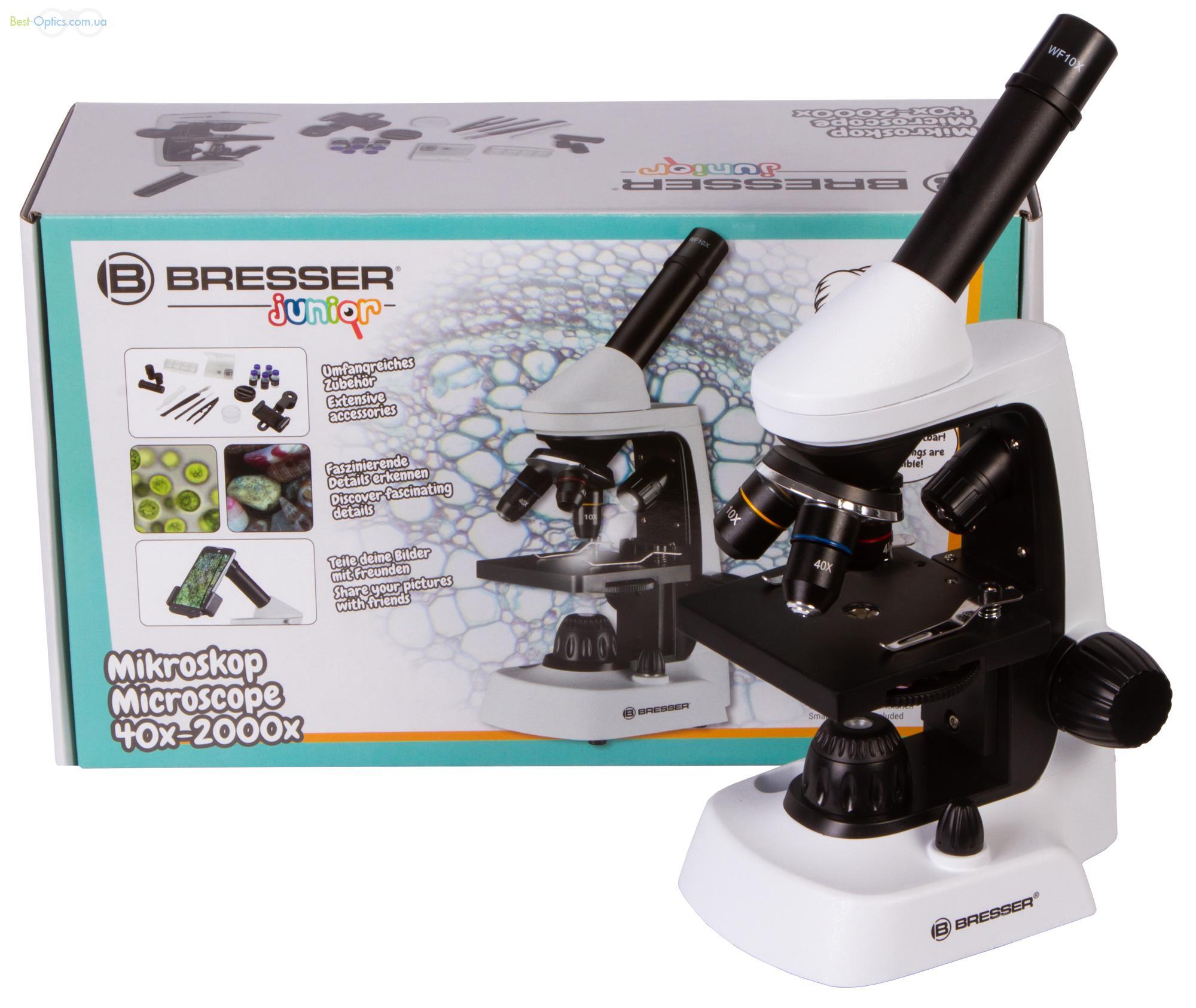 Биологический микроскоп Bresser Junior Biolux 40-2000x