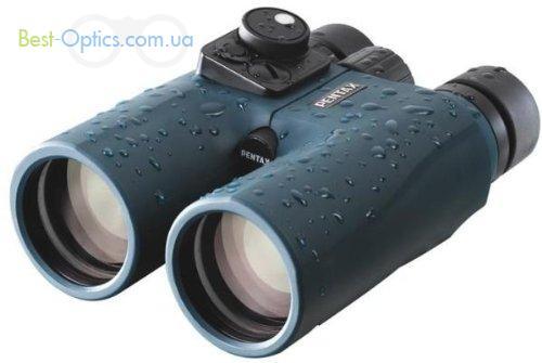 Бинокль Pentax Marine blue 7х50 с компасом