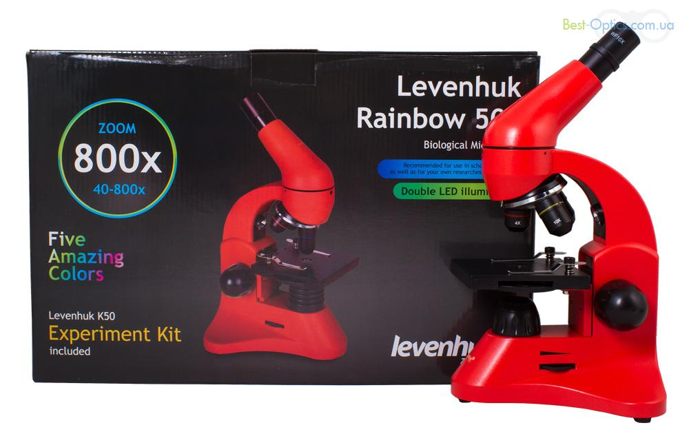 Микроскоп Levenhuk Rainbow 50L Orange/Апельсин