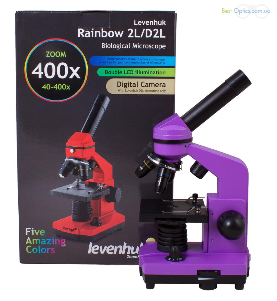 Микроскоп Levenhuk Rainbow 2L Amethyst/Аметист