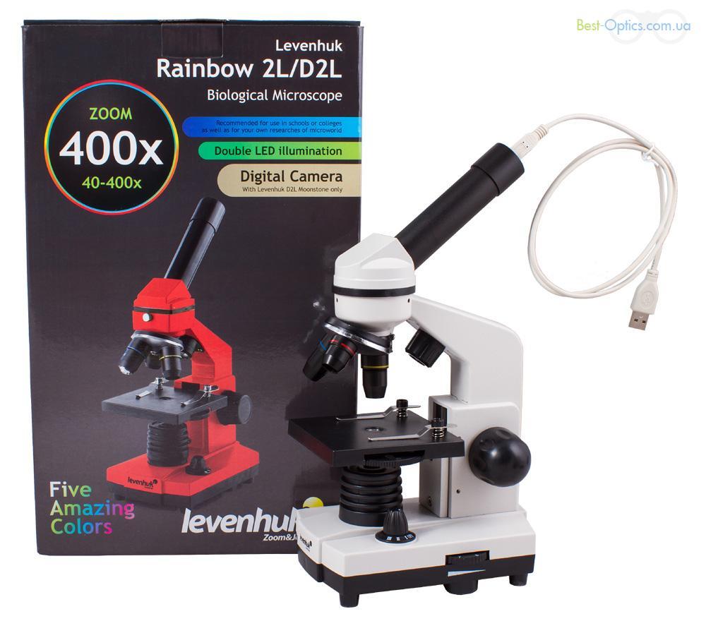 Микроскоп Levenhuk Rainbow D2L Moonstone/Лунный камень