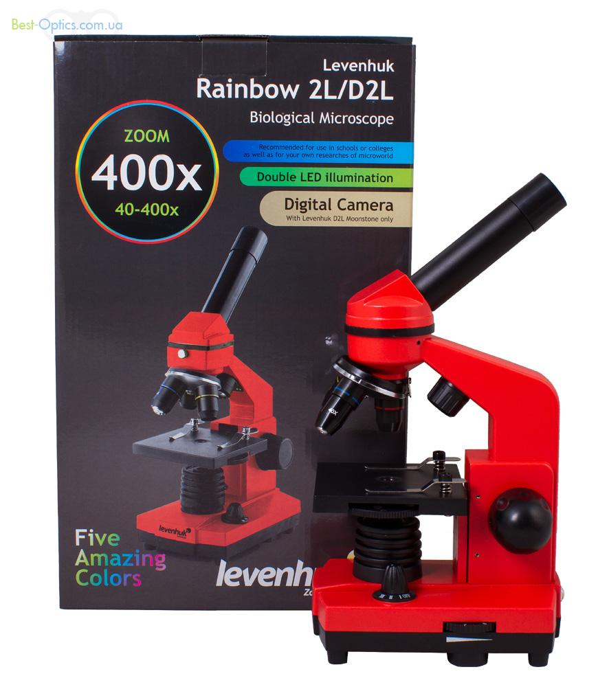 Микроскоп Levenhuk Rainbow 2L Orange/Апельсин.