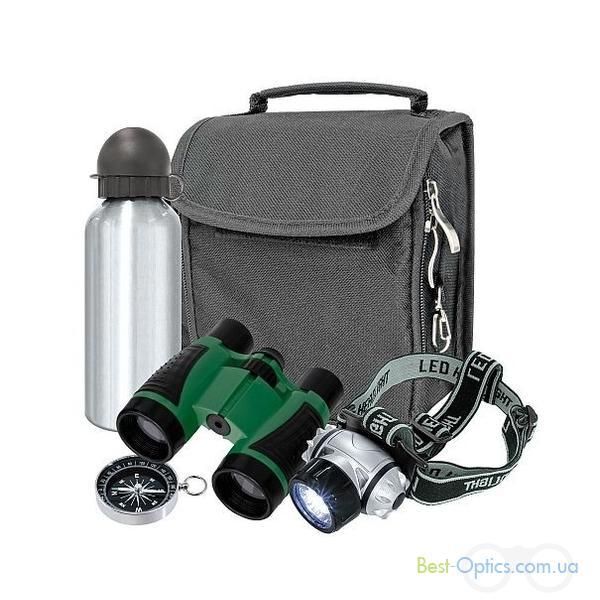 Бинокль Bresser Junior Outdoor 4x30 + фонарь, фляга, компас