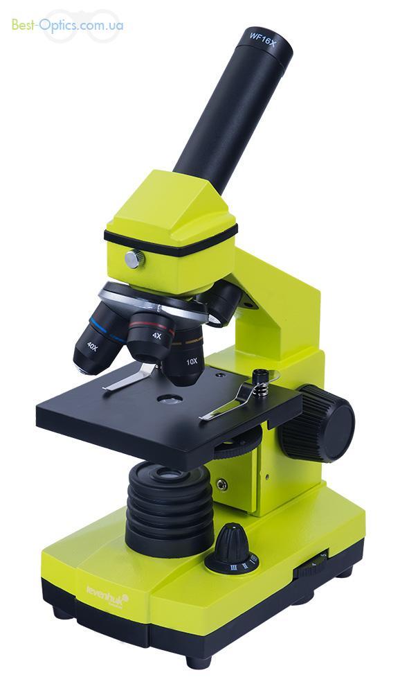 Микроскоп Levenhuk Rainbow 3L  NG Lime/Лайм