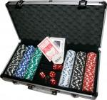 Набор для игры в покер в алюминиевом кейсе на 300 фишек