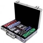 Набор для игры в покер в алюминиевом кейсе на 200 фишек